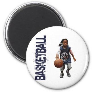 Baloncesto de la juventud imán redondo 5 cm