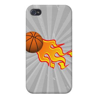 baloncesto de la llama iPhone 4 funda