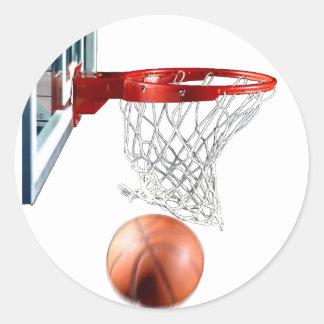 Baloncesto de la máquina que anota pegatina redonda