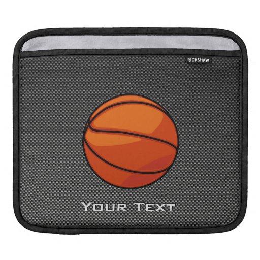 Baloncesto de la mirada de la fibra de carbono fundas para iPads