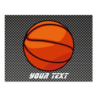 Baloncesto de la mirada de la fibra de carbono tarjeta postal