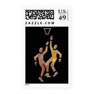 Baloncesto de la recogida sello