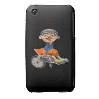 Baloncesto de la silla de rueda Case-Mate iPhone 3 fundas