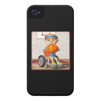 Baloncesto de la silla de rueda Case-Mate iPhone 4 protectores