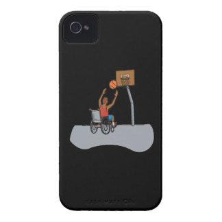 Baloncesto de la silla de rueda Case-Mate iPhone 4 cárcasas