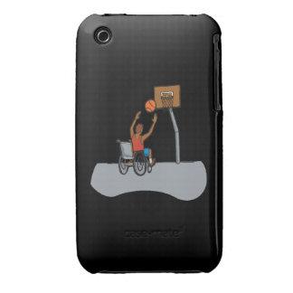 Baloncesto de la silla de rueda iPhone 3 Case-Mate cárcasas