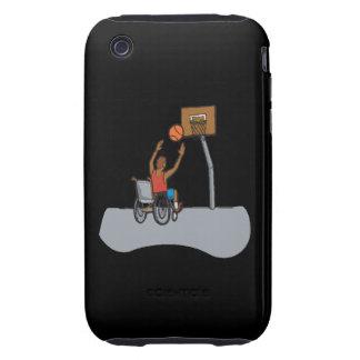 Baloncesto de la silla de rueda iPhone 3 tough cobertura