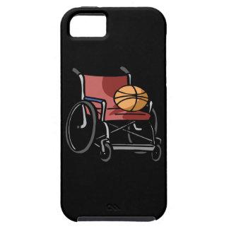 Baloncesto de la silla de rueda funda para iPhone 5 tough