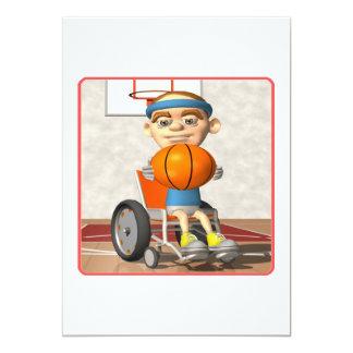 """Baloncesto de la silla de rueda invitación 5"""" x 7"""""""