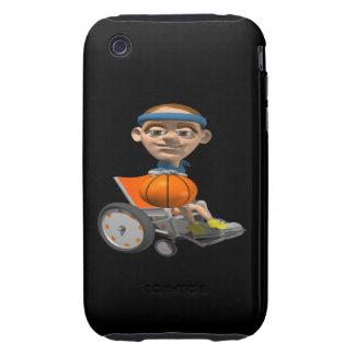 Baloncesto de la silla de rueda iPhone 3 tough protector