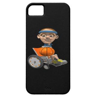 Baloncesto de la silla de rueda iPhone 5 carcasa