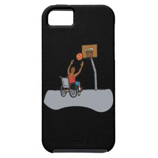Baloncesto de la silla de rueda iPhone 5 carcasas