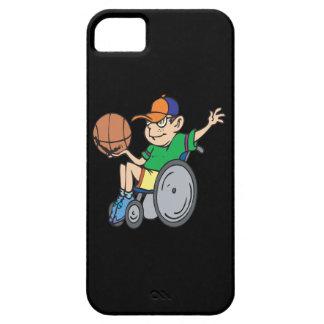 Baloncesto de la silla de rueda iPhone 5 fundas