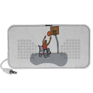 Baloncesto de la silla de rueda laptop altavoces