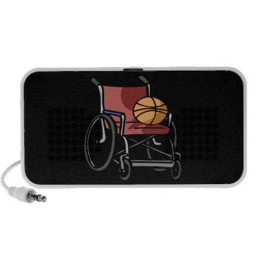 Baloncesto de la silla de rueda portátil altavoz