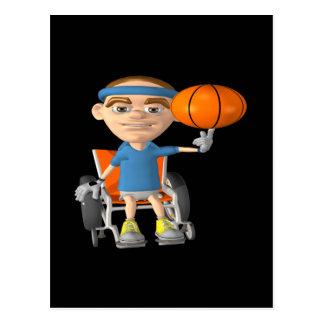 Baloncesto de la silla de rueda postal
