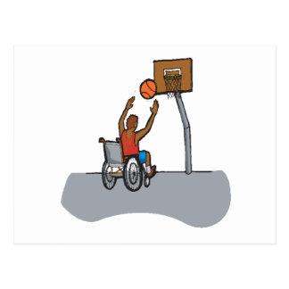 Baloncesto de la silla de rueda postales
