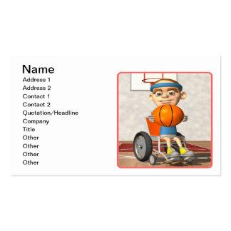 Baloncesto de la silla de rueda tarjetas de visita