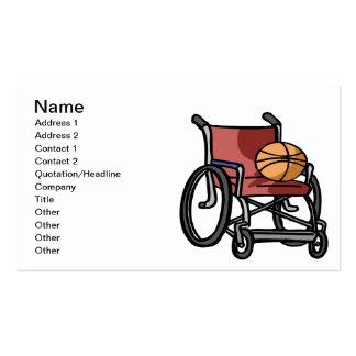 Baloncesto de la silla de rueda plantillas de tarjeta de negocio