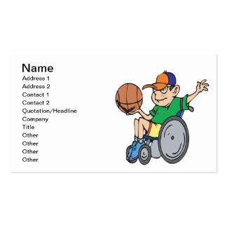 Baloncesto de la silla de rueda tarjeta de visita