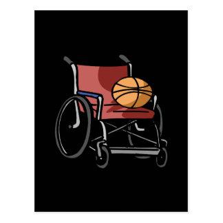 Baloncesto de la silla de rueda tarjeta postal