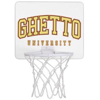 Baloncesto de la universidad del ghetto canastas mini