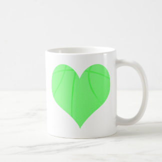 Baloncesto de la verde lima tazas