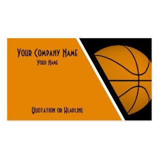 Baloncesto de las tarjetas de visita