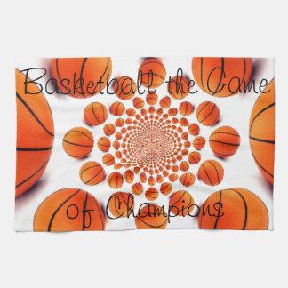 Baloncesto de las toallas de cocina el juego de