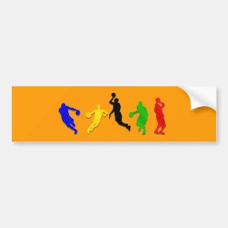 Baloncesto de los aros   de los jugadores de básqu pegatina de parachoque