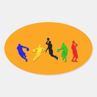 Baloncesto de los aros   de los jugadores de calcomanía oval personalizadas