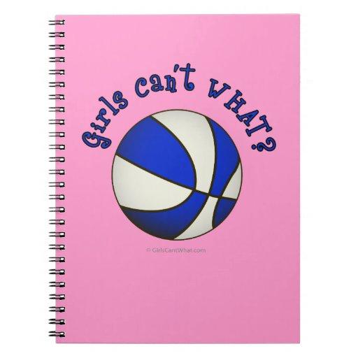 Baloncesto de los chicas - blanco/azul libreta