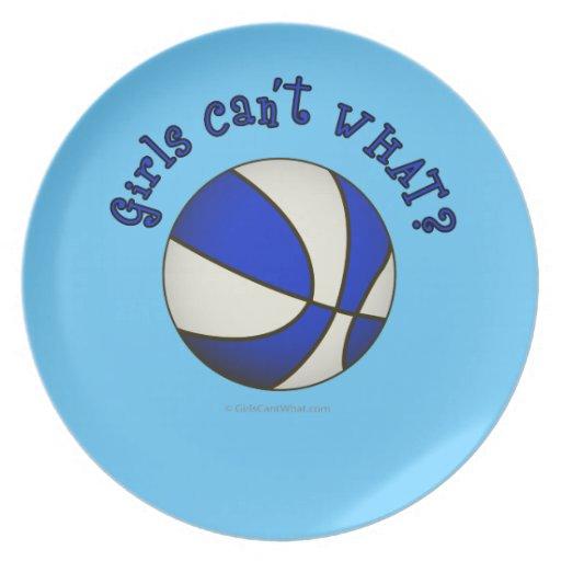 Baloncesto de los chicas - blanco/azul plato de cena