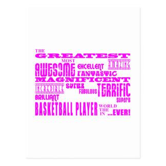 Baloncesto de los chicas: Jugador de básquet más g Postales