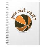 Baloncesto de los chicas - negro/naranja libros de apuntes