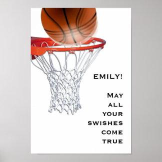 Baloncesto de los chicas póster