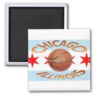 Baloncesto de los llinois de Chicago Imán Cuadrado