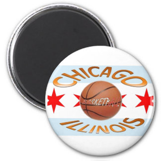 Baloncesto de los llinois de Chicago Imán Redondo 5 Cm