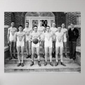 Baloncesto de los muchachos de universidad de Burr Póster