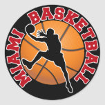 Baloncesto de Miami Pegatinas Redondas