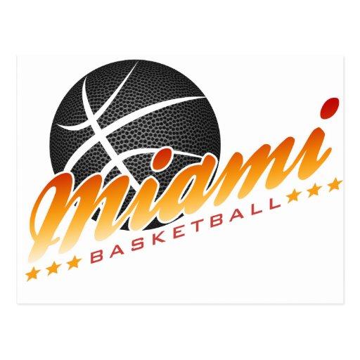 Baloncesto de Miami Tarjetas Postales