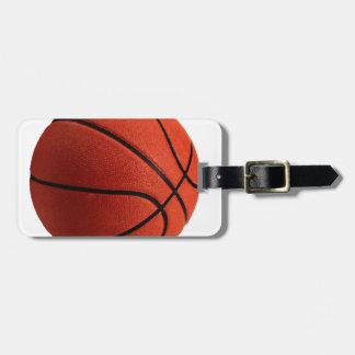 Baloncesto de moda del estilo etiquetas maletas