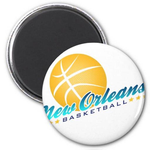 Baloncesto de New Orleans Imán Redondo 5 Cm