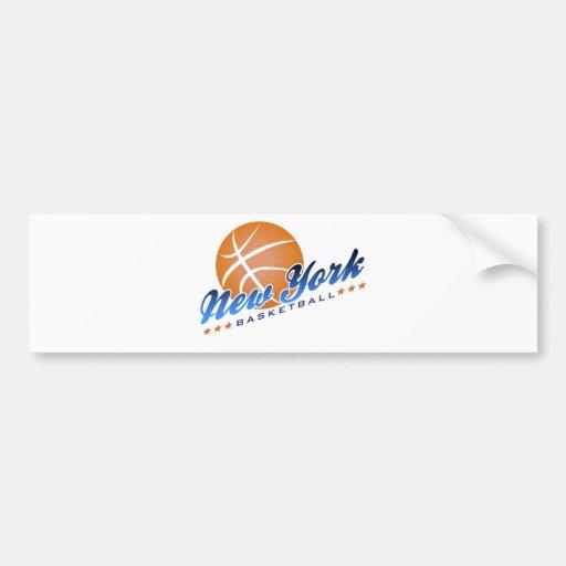 Baloncesto de Nueva York Pegatina Para Auto