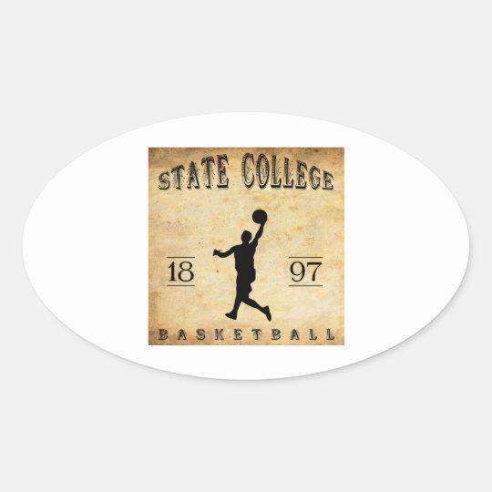 Baloncesto de Pennsylvania de la universidad de Pegatina Ovalada