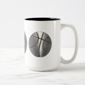 Baloncesto de plata taza de dos tonos