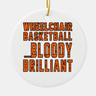 Baloncesto de silla de ruedas Bloody brillante Adorno Redondo De Cerámica