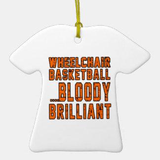 Baloncesto de silla de ruedas Bloody brillante Adorno De Cerámica En Forma De Playera