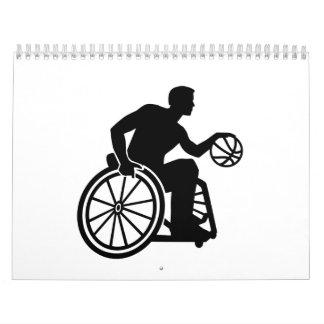 Baloncesto de silla de ruedas calendario de pared