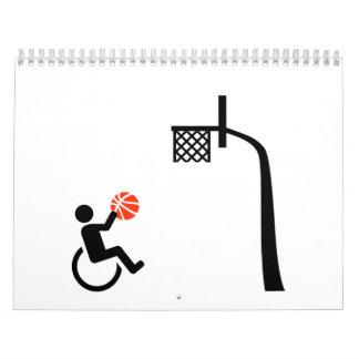 Baloncesto de silla de ruedas calendarios